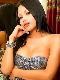 Pretty Ladyboy Honey has a perfect thick cock