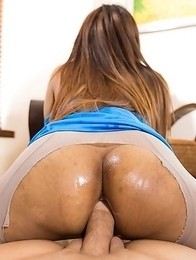 Aris hot mini skirt big dick ride