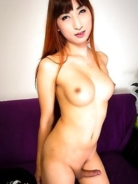 Pam is a beautiful girl with sexy long legs, big breasts, a great ass and a hard cock! She comes off shy in the begining but then bends that tight lit