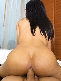 Asian Busty Tranny Bola in black lingarie