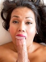 Thai tgirl Amy sucking  monster cock