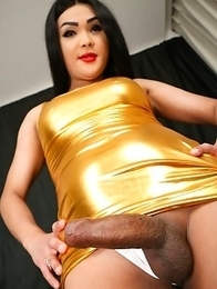 Fanta is a pretty tgirl with a hot curvy body, big tits and a big round ass to go with her big rock hard cock! Watch this hot transgirl showing off he