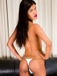 Lin is a sexy slim tgirl with a hot body, a sultry expression, nice small tits and a superb bubble butt!