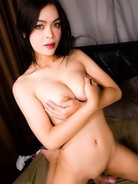 Sexy Lin is a beautiful Asian tgirl with a smoking hot body, big juicy boobs, a great ass and a rock hard cock!