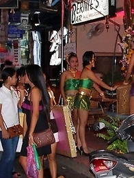 Ladyboy candids of contests and on the streets of Pattaya