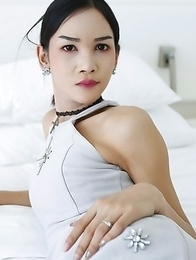 21yo busty Thai newhalf Mickey sucks and fucks white tourists cock