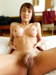 Asian ladyboy Mos gets ass fucked by white stranger