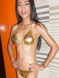 natty gold bikini self facial bareback
