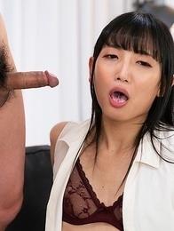 Cock Locked Kaoru Hanayama Horny Blowjob together with Cum Acquisition bargain